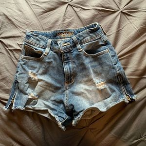 High waisted zipper shorts (Size 1)